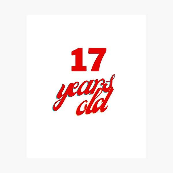 Tengo 17 años de edad Lámina fotográfica