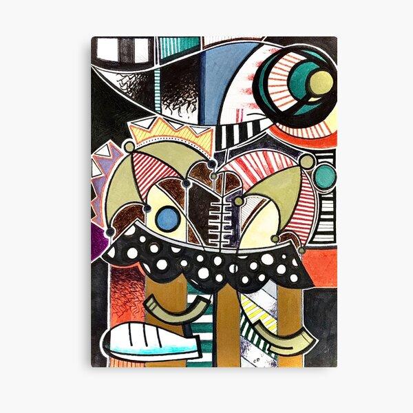 Abstract Umbrella Figure  Canvas Print