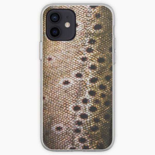 Brown Trout Skin (scales) iPhone Soft Case