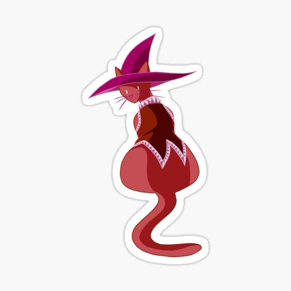 Lesbian Pride Witch Kitty Sticker