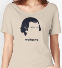 Wolfgang Mozart (Hirsute History) Women's Relaxed Fit T-Shirt