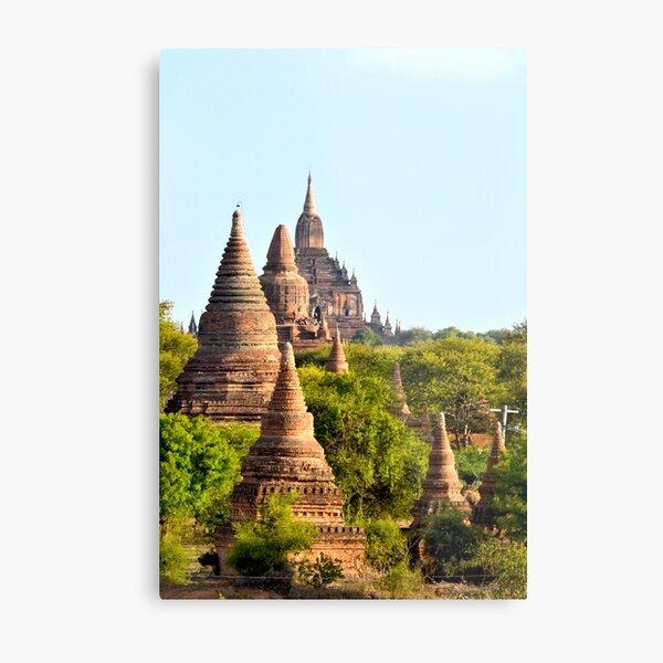 Temples aplenty – Bagan, Myanmar Metal Print