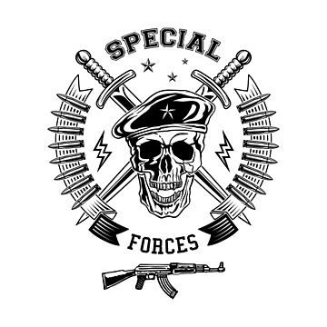 Special forces monochrome emblem by valerisi