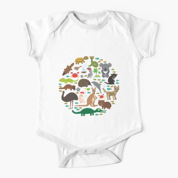 Australia  Short Sleeve Baby One-Piece