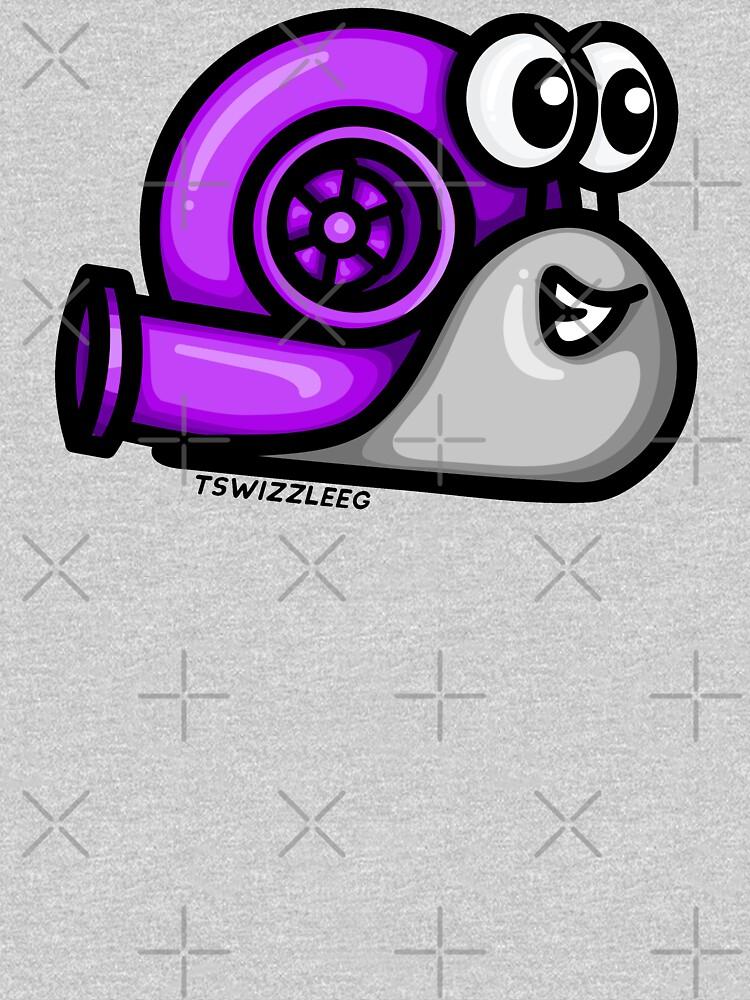 Turbo Snail (Version 1) - Purple/ Gray by TswizzleEG