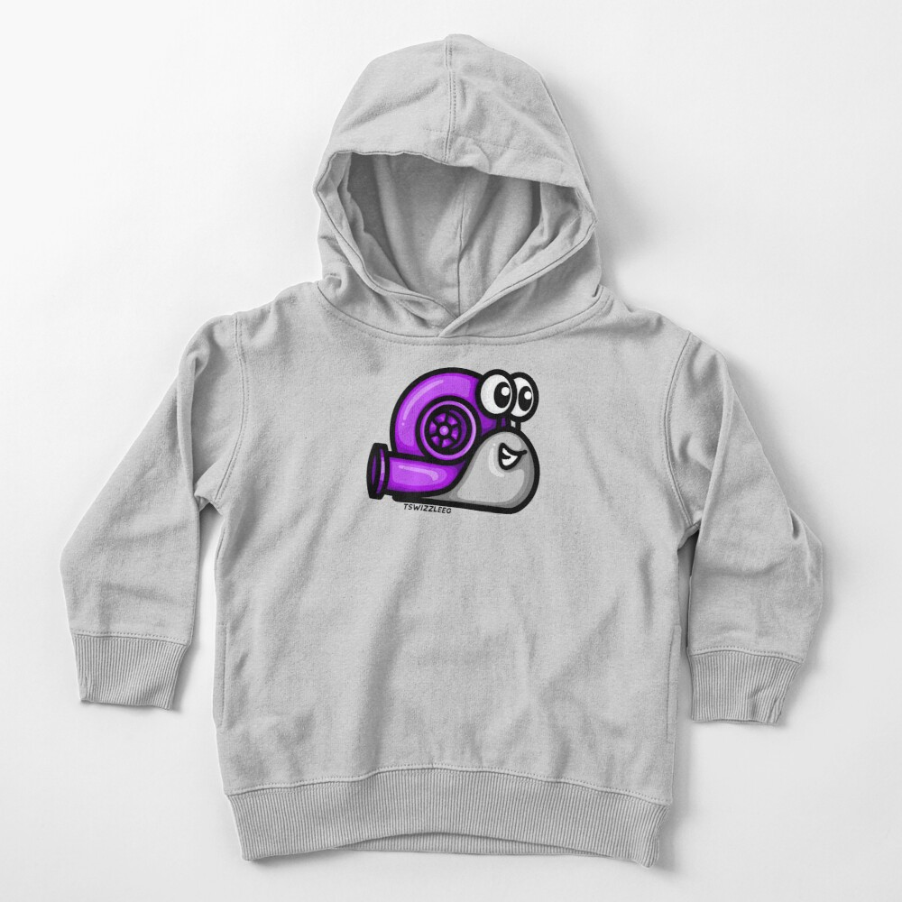 Turbo Snail (Version 1) - Purple/ Gray Toddler Pullover Hoodie