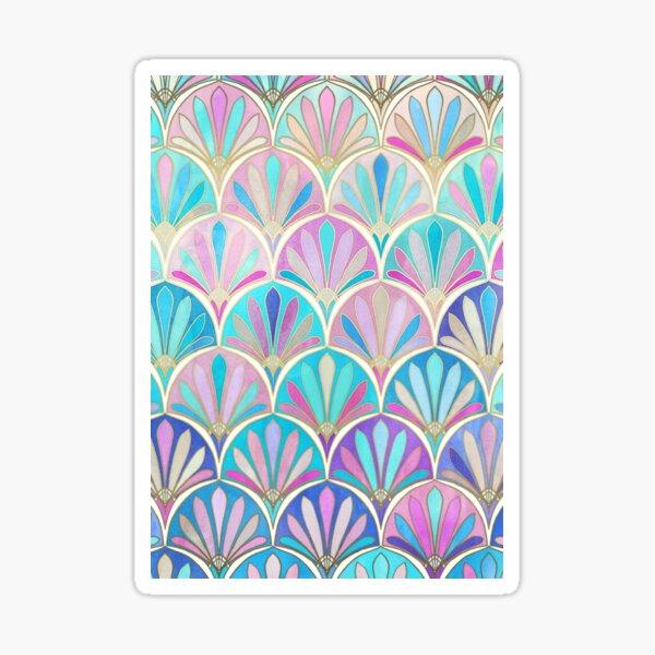 Glamorous Twenties Art Deco Pastel Pattern Sticker