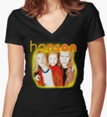 HANSON Women's Fitted V-Neck T-Shirt