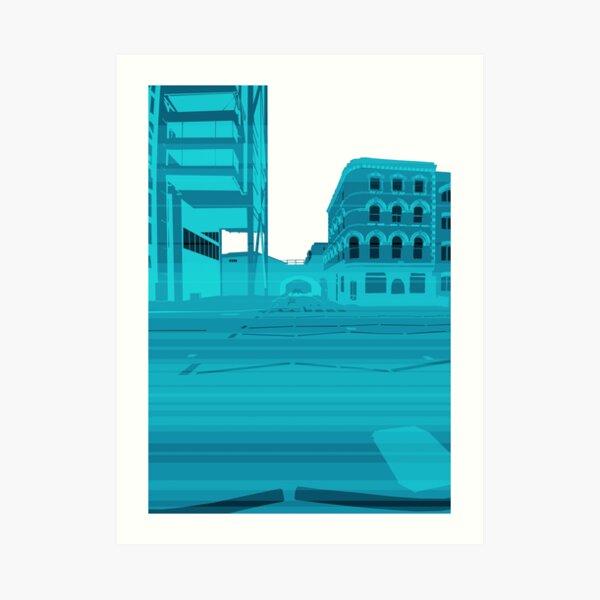 Embankment Momentum (blue) Art Print