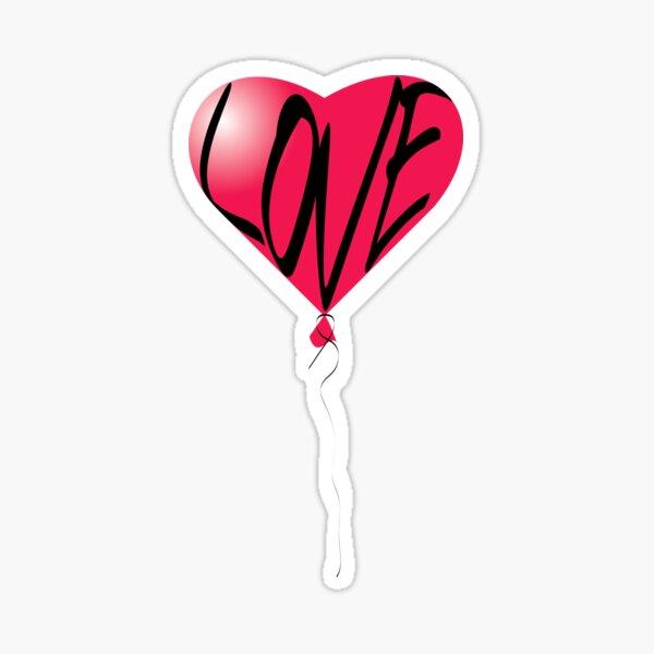 "Le ballon ""love"" Sticker"