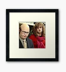 tim and eric show  Framed Print