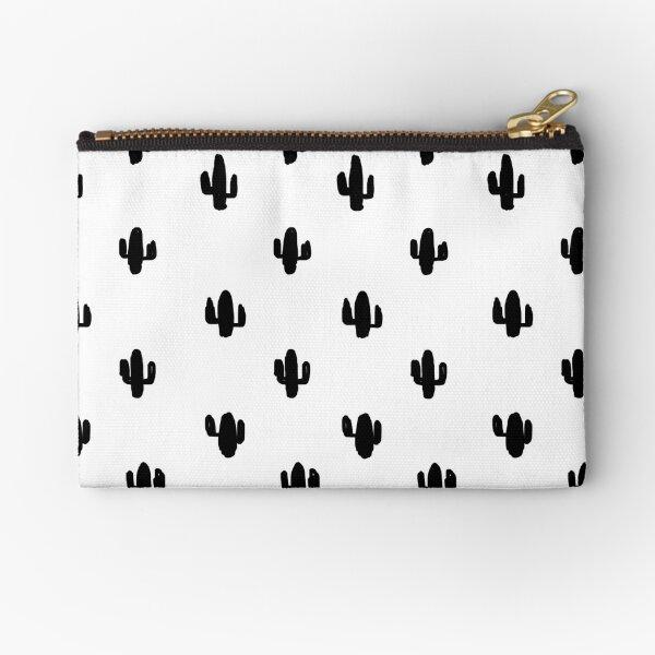 Tiny black cactus Zipper Pouch