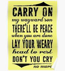 Spn Wayward sons (black version) Poster
