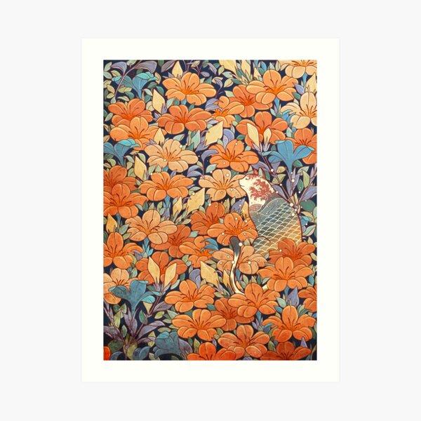 Neko and flowers Art Print