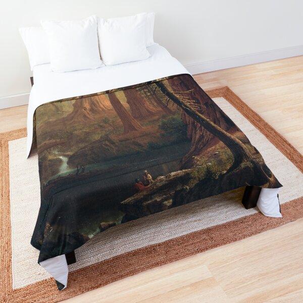 Giant Redwood Trees of California - Albert Bierstadt Comforter