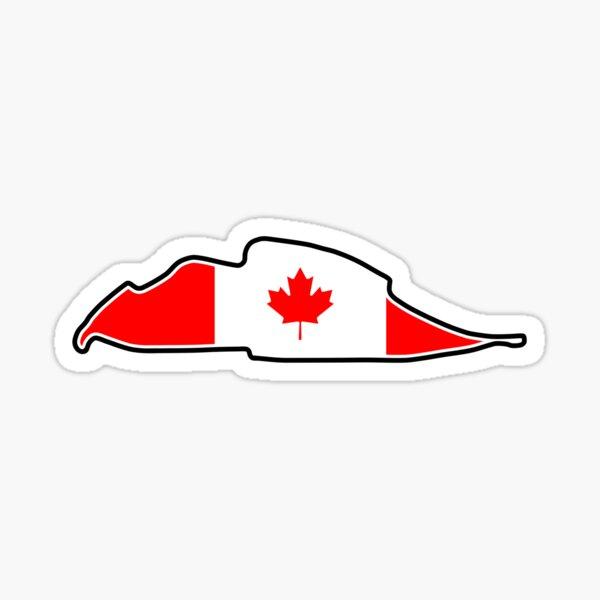 Circuit Gilles Villeneuve [flag] Sticker