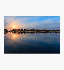 moonlight reflection in water - beautiful landscape at night Photographic Print