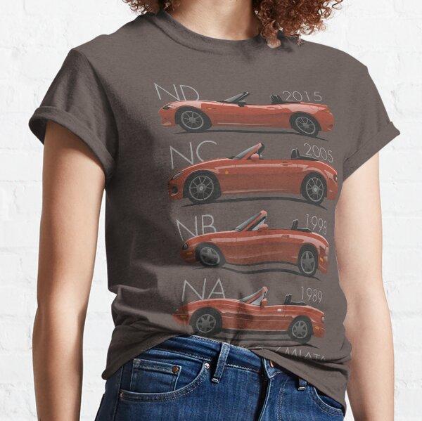 Évolution de la Mazda MX-5 T-shirt classique