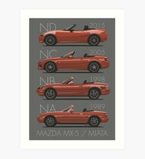 Mazda MX-5 evolution Art Print