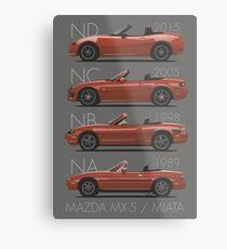 Mazda MX-5 evolution Metal Print