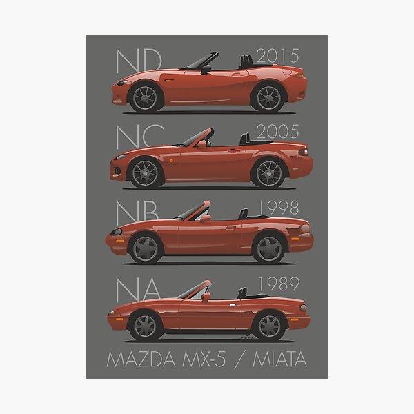 Mazda MX-5 evolution Photographic Print