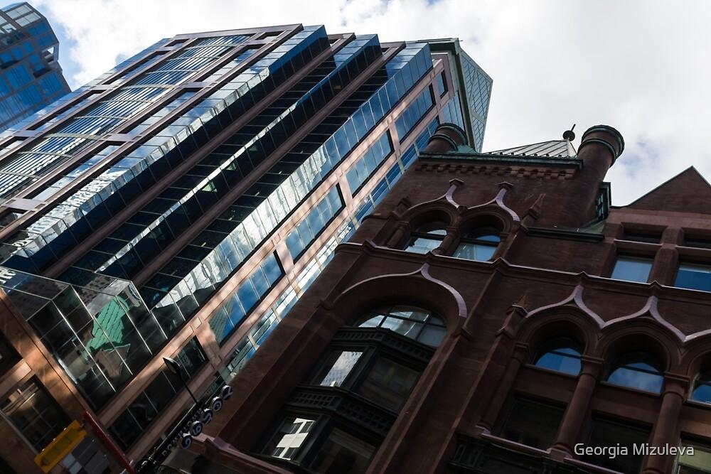 Yonge Street - Downtown Toronto Architecture Right by Georgia Mizuleva