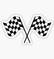 Checkered Flag Racing Car Auto Window Bumper Decal  Sticker
