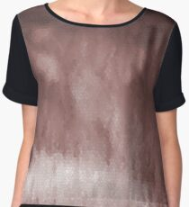 Shades of Brown Stain Glass Women's Chiffon Top