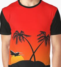 Paradise Island at sunset Graphic T-Shirt