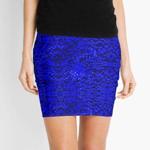 Liquid Digital Water Pattern Mini Skirt