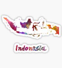 Indonesien in Aquarell Sticker