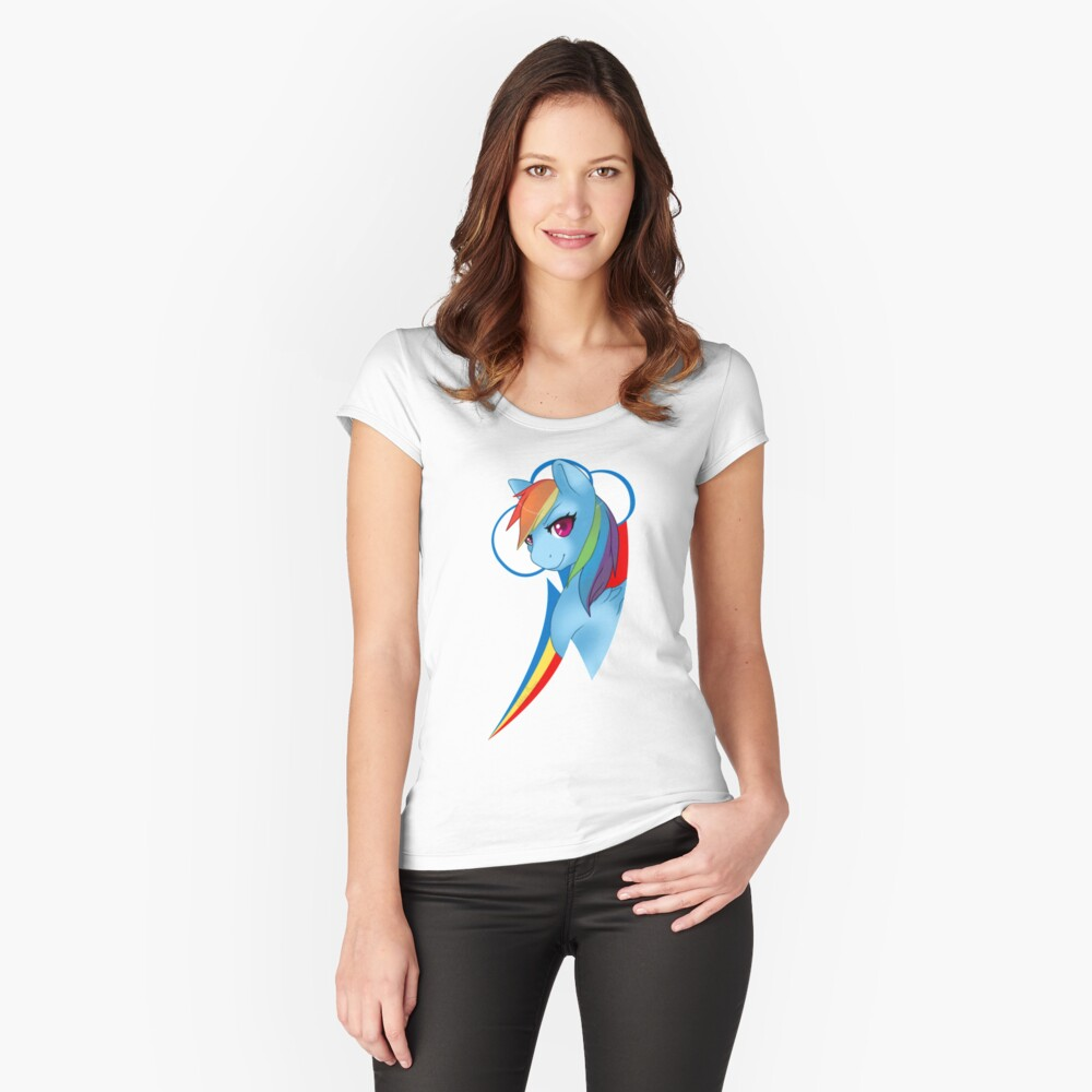 20% Cooler Women's Fitted Scoop T-Shirt Front