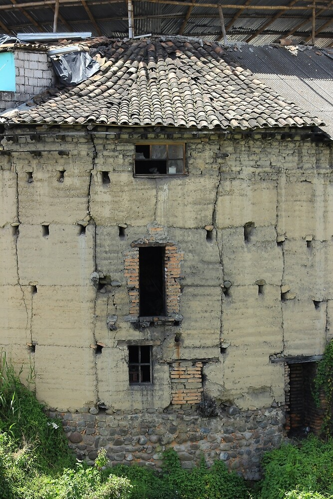 Old Adobe Building in Otavalo by rhamm