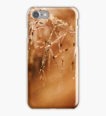 Abstract Grass Water Drop Droplet Nature Brown Earth Tones iPhone Case/Skin