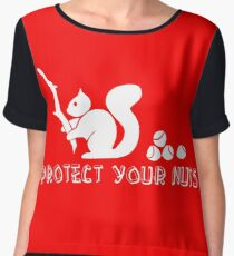 Protect your nuts Women's Chiffon Top