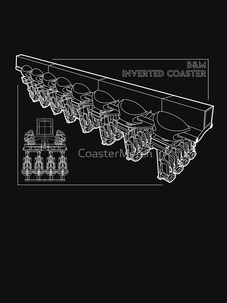 B&M Inverted Coaster Blueprint Design by CoasterMerch