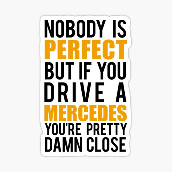 Propietarios de Mercedes Mercedes Pegatina