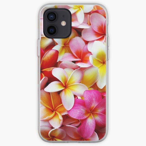 Plumeria Pink White Frangipani Tropical Hawaiian Flower Floral Fine Art iPhone Soft Case