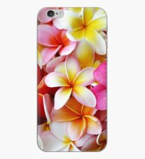 Plumeria Pink White Frangipani Tropical Hawaiian Flower Floral Fine Art iPhone Case