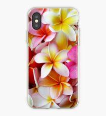 Vinilo o funda para iPhone Plumeria Pink White Frangipani Tropical Hawaiian Flower Floral Fine Art