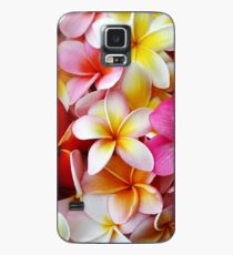 Plumeria Pink White Frangipani Tropical Hawaiian Flower Floral Fine Art Case/Skin for Samsung Galaxy