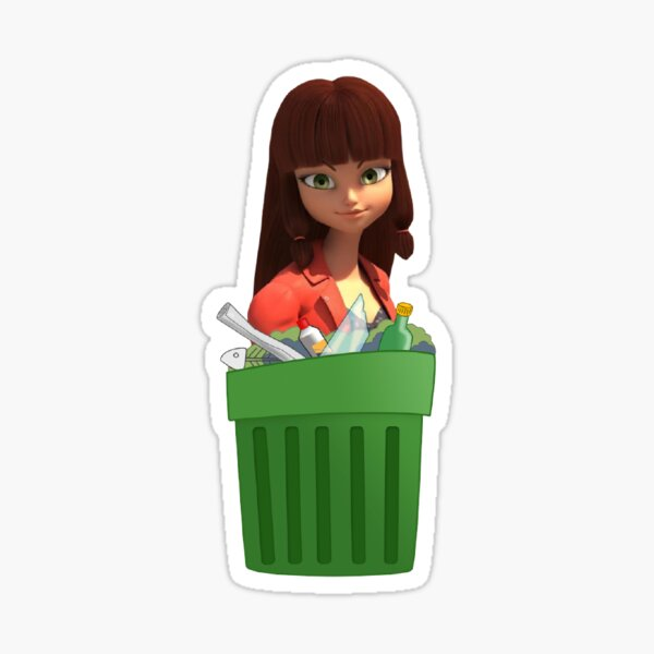 Lila is Trash Sticker