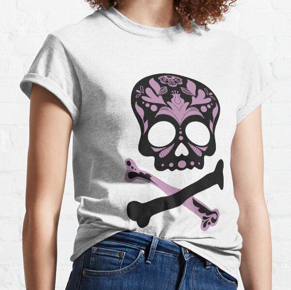 Floral Skull - Lavender Classic T-Shirt