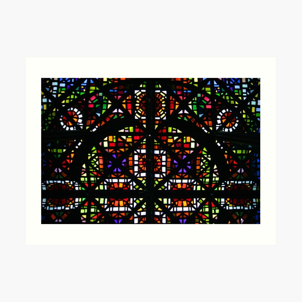 NGV Melbourne - Stained Glass Ceiling Detail. Art Print