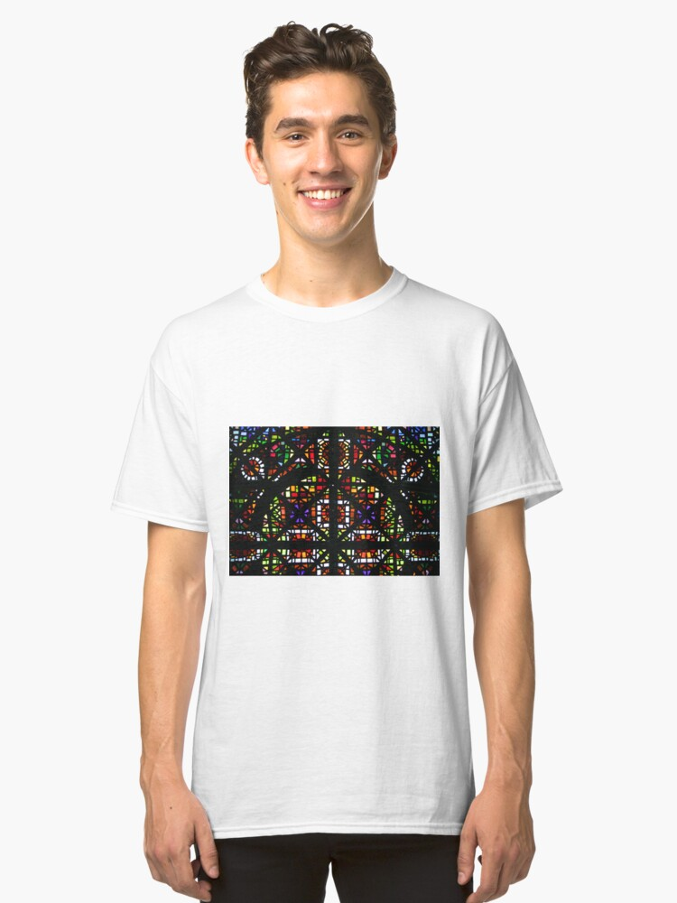 Alternate view of NGV Melbourne - Stained Glass Ceiling Detail. Classic T-Shirt