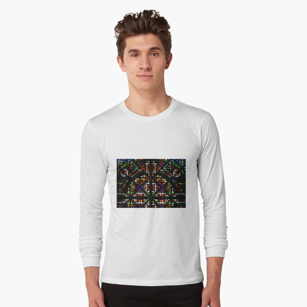 NGV Melbourne - Stained Glass Ceiling Detail. Long Sleeve T-Shirt