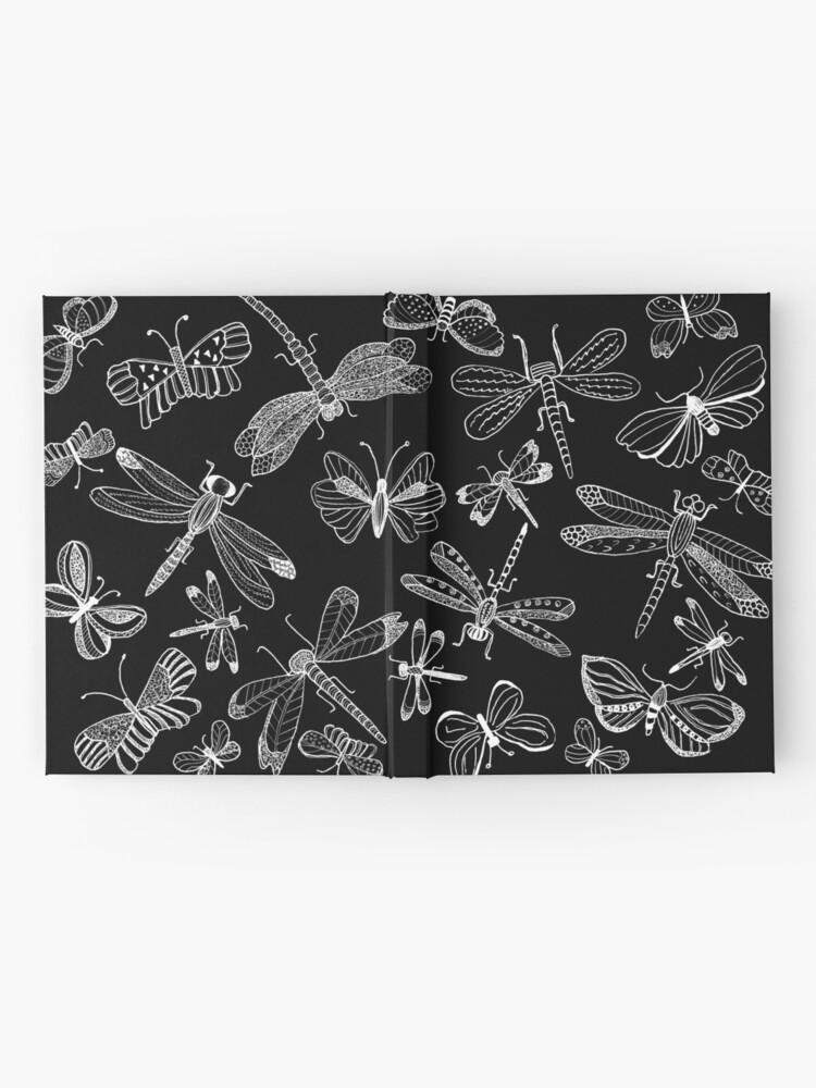 Alternate view of  Dragonfly-Butterfly Illustration, Fine Art Hardcover Journal