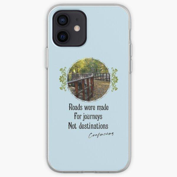 Roads Were Made For Journeys Not Destinations - Impactful Positive Motivational iPhone Soft Case