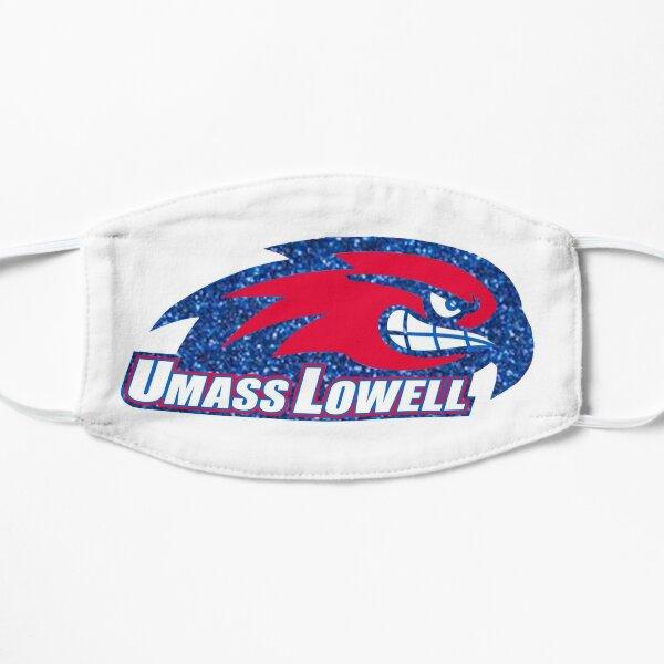 Umass Lowell Logo (blue glitter) Flat Mask