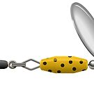 Yellow Polka Dot Spinner by William Fehr
